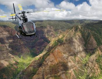Helicopter over Waimea Canyon