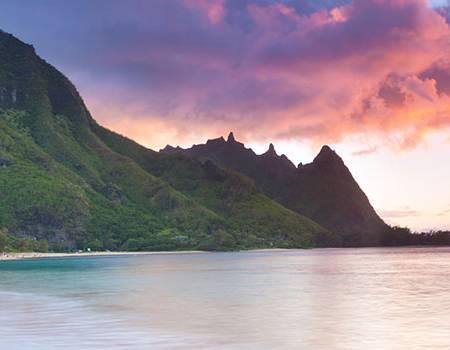 Sunset Over the North Shore of Kauai | Oceanfront Rentals on Kauai