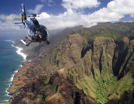 helicopter over Na Pali coast