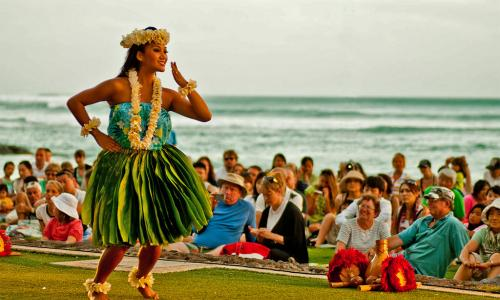 hula dancer at luau