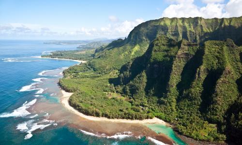 Haena from Na Pali Coast