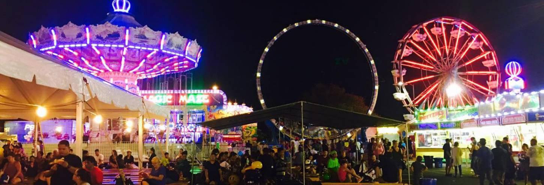Kauai Farm Fair at night