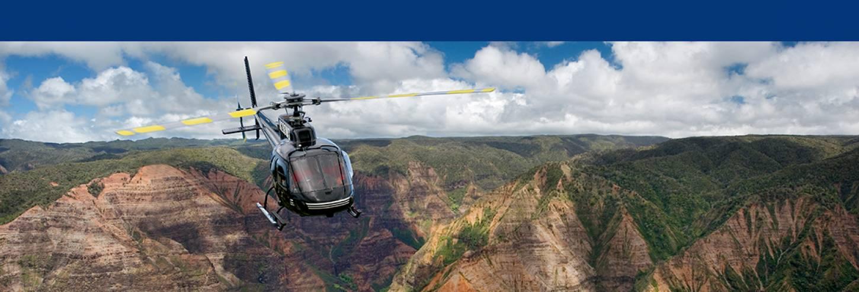 Helicopter over Waimea Canyon