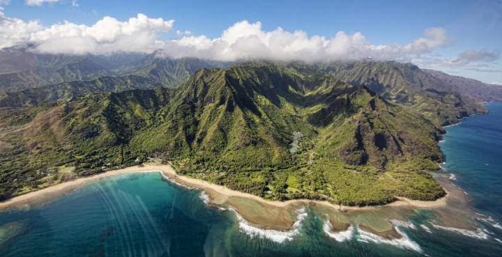 Ariel view of Kauai