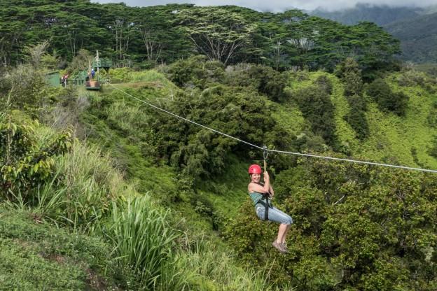 Zip Lining on Kauai